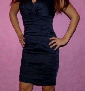 Платье т.синее р.36