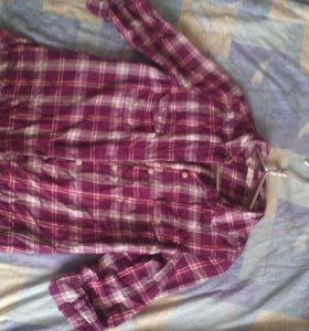 Рубашка женская,рукава удленяются.