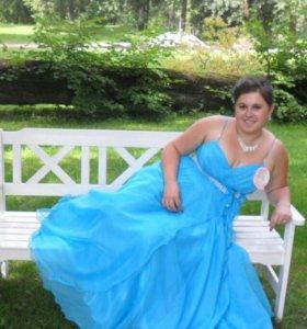 Платье в пол с корсетом