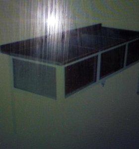 Ванна моечная трех-секционные из нержавнйки