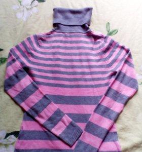 Серо-розовый бадлон