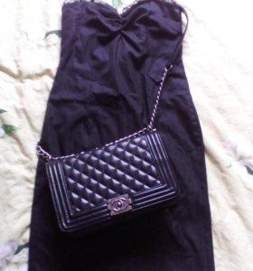 Чёрное, вечернее платье (S)