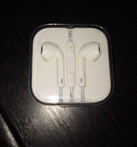 Наушники EarPods от iPhone 5s. Оригинальные
