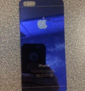 Заднее защитное стекло на IPhone 5,5s, SE