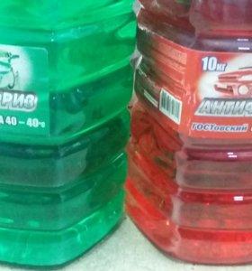 Антифриз 10кг красный и зеленый