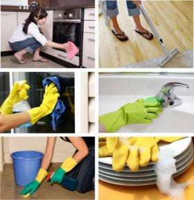 Уборка квартир и мытье окон