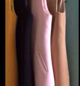 Осенние жилеты из тёплой пальтовой ткани