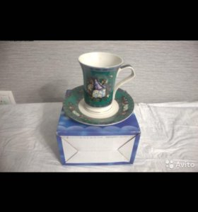 Чашка с блюдцем фарфор