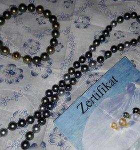 Жемчужное ожерелье и браслет