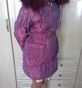 Зимняя куртка на девочку, размер 128