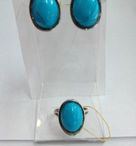 Серьги кольцо серебро925пр.
