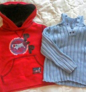 Толстовка и свитер на 3 годика
