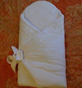 Конверт-одеяло на выписку, крещение