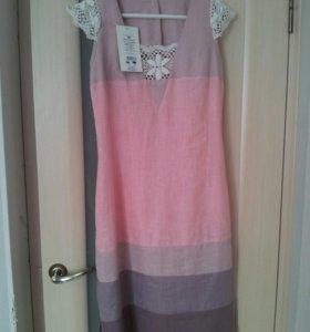 Платье лен, размер 44