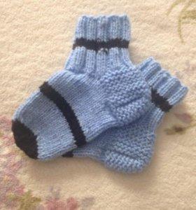 Носки шерстяные на мальчика размер 23-24