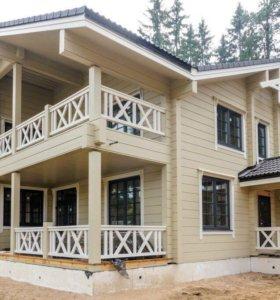 Строим дома и бани из бруса