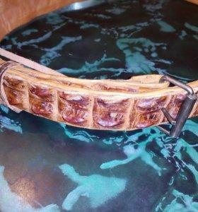 Ремень из натуральной кожи крокодила
