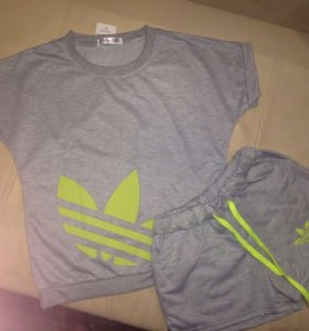 Новые стильные костюмы (шорты+футболка)