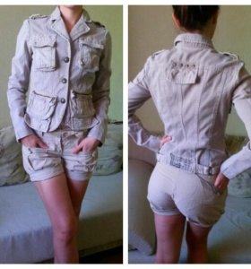 Джинсовый пиджак и шортики DKNY