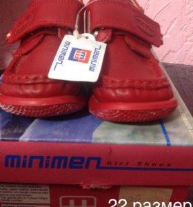 Новые кожаные ботиночки  minimen