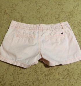 Персиковые короткие летние шорты