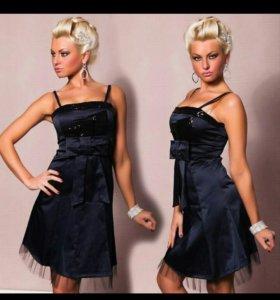 Платье 40-42 новое темно-синее