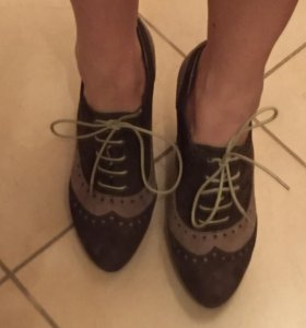 Ботинки замшевые Терволина новые