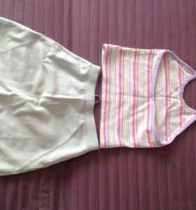 Комплект  топик + юбка
