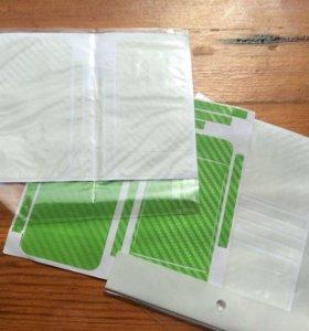 Плёнки карбоновый для iPhone 4 4s Стикеры