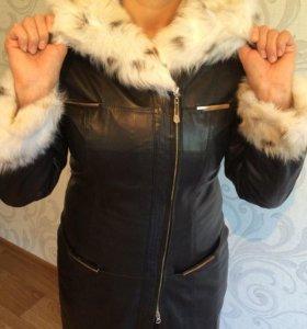 Куртка зимняя (натуральная кожа, натуральный мех)