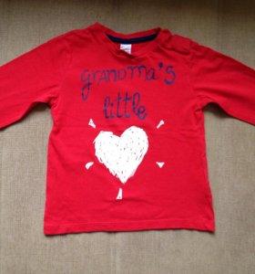 2 футболки  Zara с дл.рукавом. Разм 94