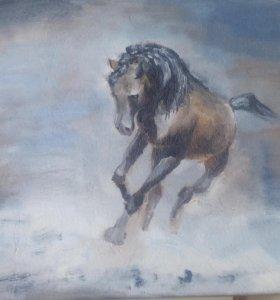 Картина 'Конь'  масло