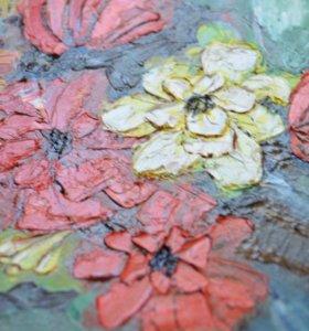 Картина 'Цветы' масло