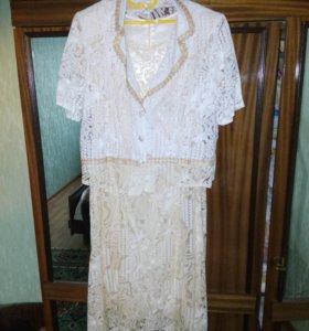 Платье с жакетом р.58