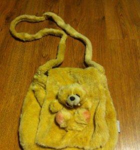 🐻 Плюшевая сумка с мишкой