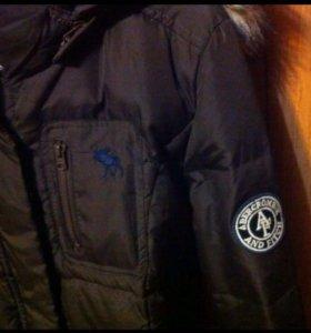 Зимний женский пуховик Abercrombie & Fitch
