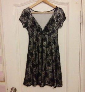 Гипюровое платье s новое