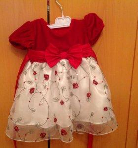 Нарядное платье 62см