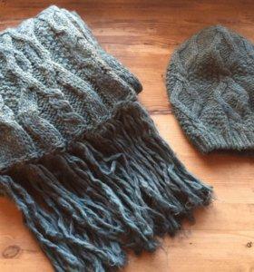 Комплект шапка и шарф benetton