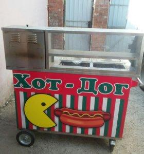 Прилавок для приготовления хот-дога