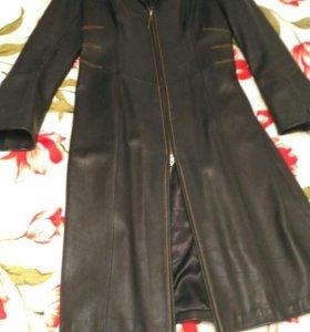 Тренч кожаный пальто весеннее