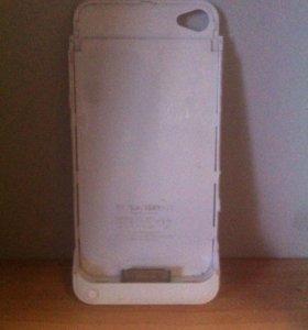 Чехол зарядка для айфон 4