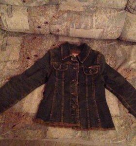 Юбка джинсовая куртка и блузка корсет