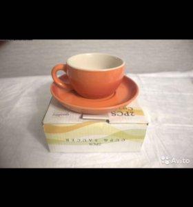 Чашка с блюдцем (керамика)