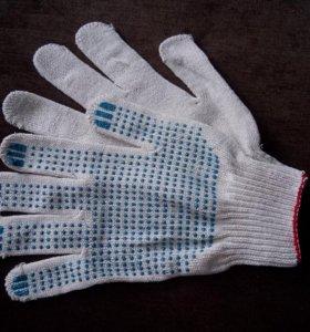 Перчатки с ПВХ-напылением