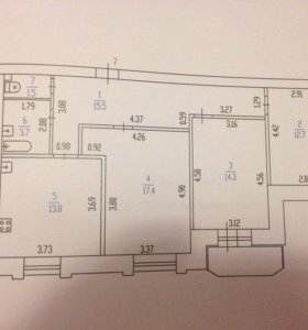 3-х комнатная квартира 79м2
