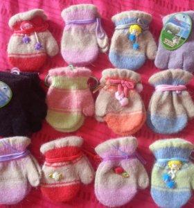 Детские рукавички и перчатки теплые