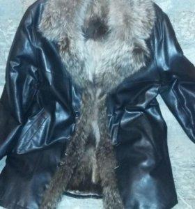Куртка муж.кожаная фирм.на натуральном меху(Новая)