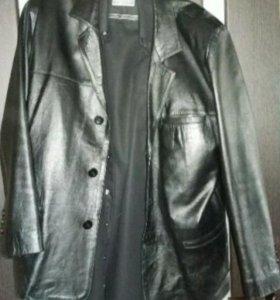 Итальянский кожаный пиджак 48-50