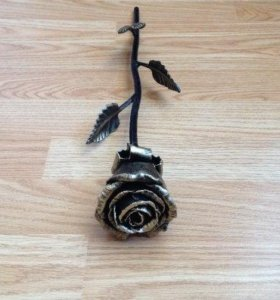 Кованая роза. Оригинальный подарок.